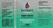Peppermint Vanilla Hemp Drops