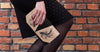 Black Fish Hand Carved and Hand Painted Leather Crossbody Clutch