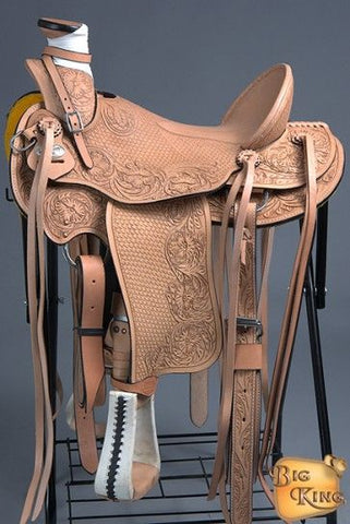 Hand Tooled Leather Saddle