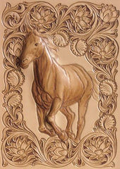 Hand Tooled Leather Horse