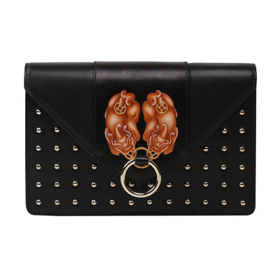 PX (PiXiu) Black Crossbody Clutch