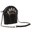 Feather Black Shoulder Bag