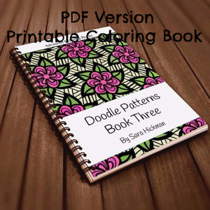 PDF: Printable Coloring Book - Doodle Patterns - Book 3