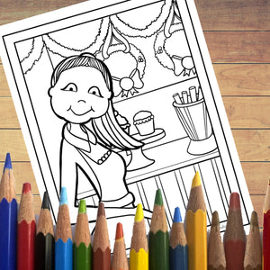 PDF: Printable Coloring Book - Chubby Cheek Diva Christmas
