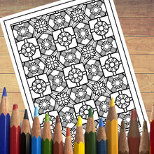 PDF: Printable Coloring Book - Doodle Patterns - Christmas Countdown