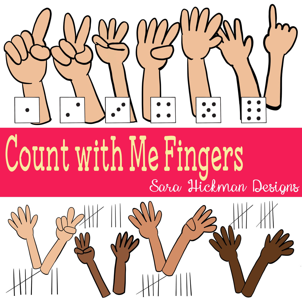 Chubby Cheek Clipart: Counting Fingers
