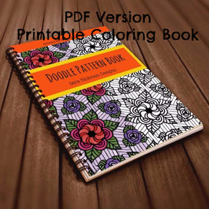 PDF: Printable Coloring Book - Doodle Patterns - Book 1