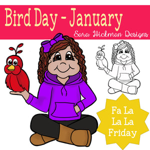 Fa La La Fridays - Rosie on National Bird Day