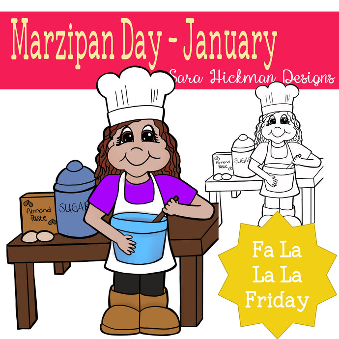 Fa La La Friday - Rosie on Marzipan Day