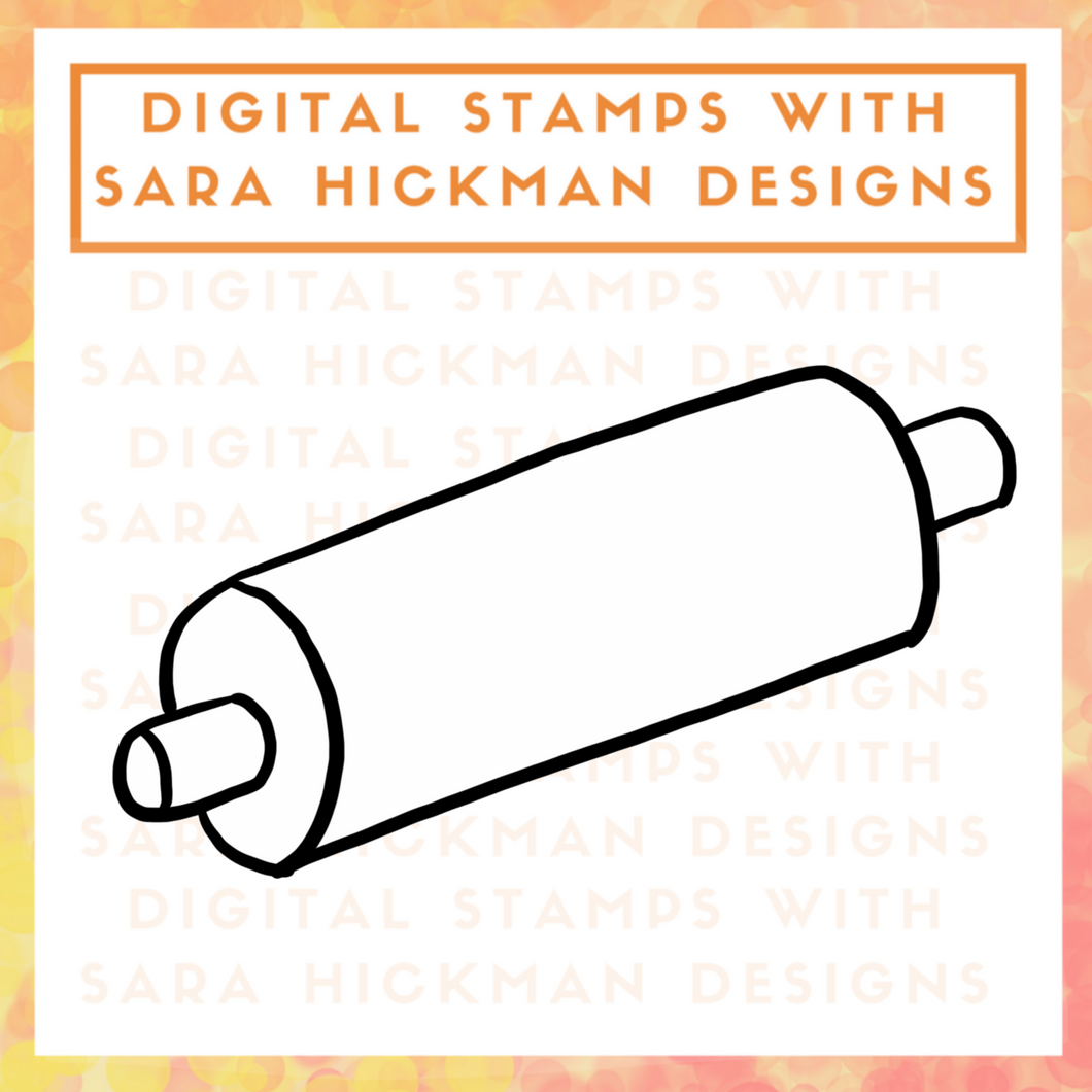 Digital Stamps: Farmhouse Rolling Pin