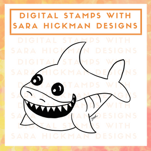 Digital Stamps: Great White Shark