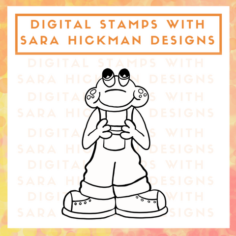 Digital Stamps:  Carl the Frog