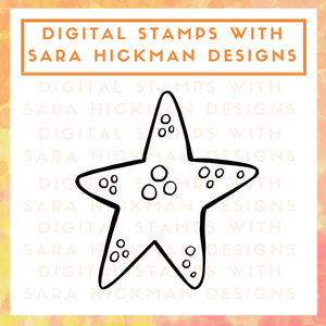 Digital Stamps: Under the Sea Starfish