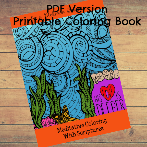 PDF: Printable Coloring Book - Meditative Scriptures and Blessings