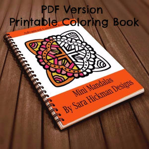 PDF: Printable Coloring Book - Mini Mandalas