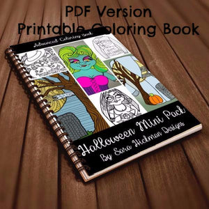 PDF: Printable Coloring Book - Halloween Mini Book