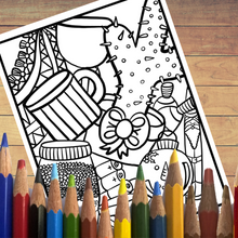 PDF: Printable Coloring Book, Ugly Christmas Sweater Party