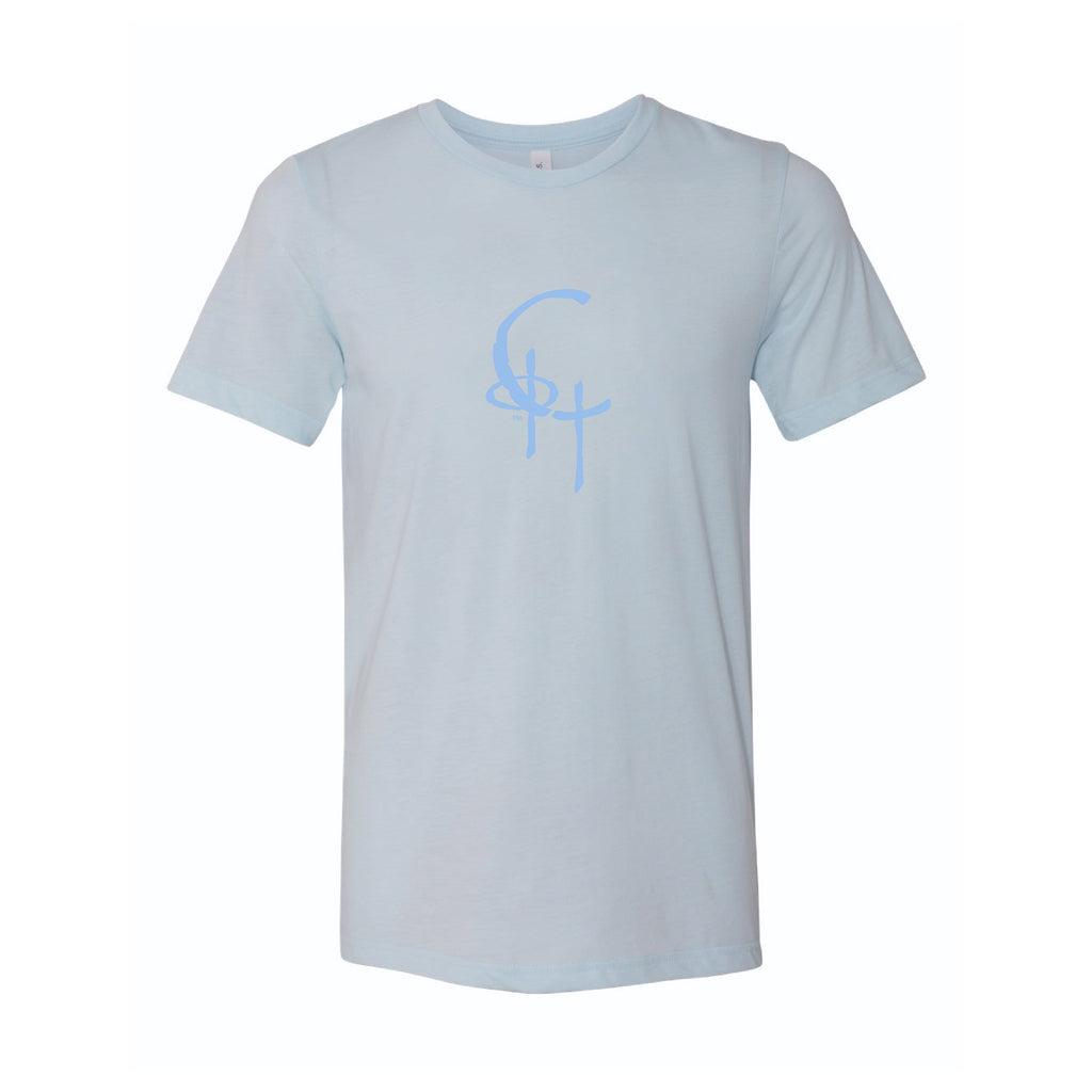 Spirit Fit Unisex Fine Jersey Short Sleeve Tee (Ice Blue Triblend)