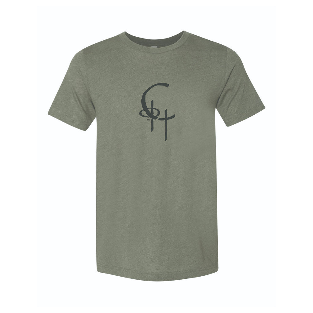 Spirit Fit Unisex Fine Jersey Short Sleeve Tee (Military Green Triblend)
