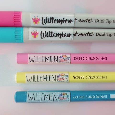 Wrap-Around Pen & Pencil Labels
