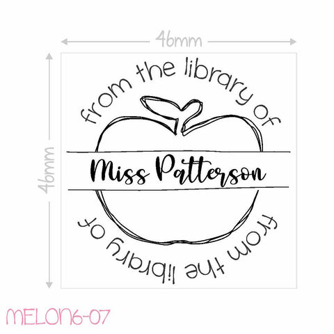 Teacher Stamp - from the library of