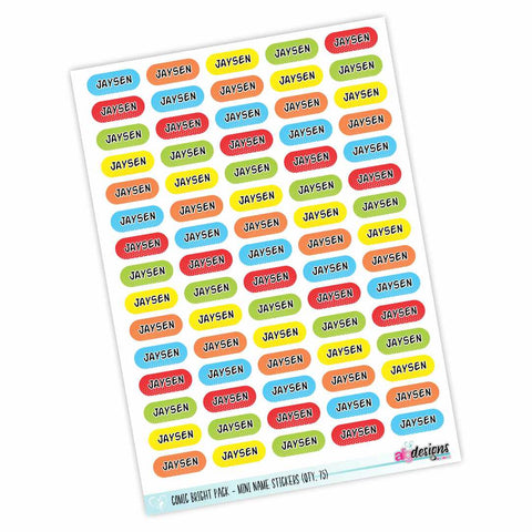 Mini Stickers - Comic Brights