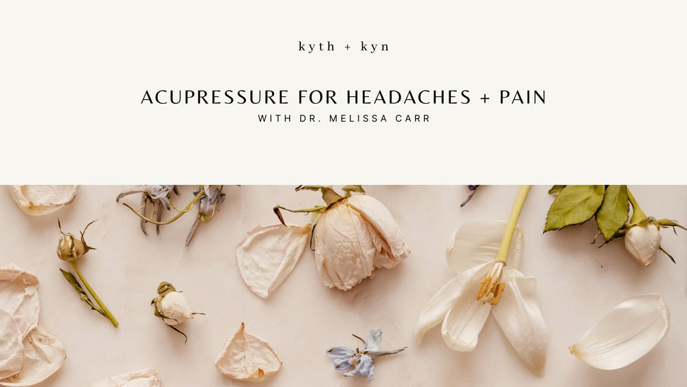 Acupressure for headaches + pain