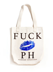 FUCK PH BIG LIPS CANVAS TOTE BAG | Natural