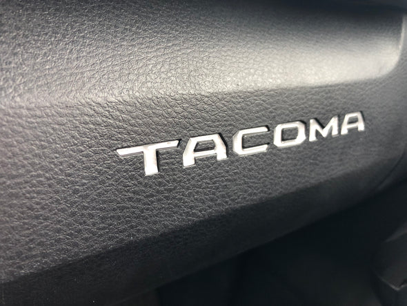 silver toyota tacoma raised / domed glovebox decal / insert