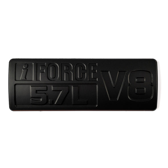 Black Toyota Tundra i Force V8 Emblem/Badge