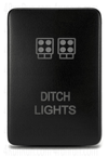 "Small Style Toyota OEM Style ""DITCH LIGHTS"" Switch - Cali Raised LED"