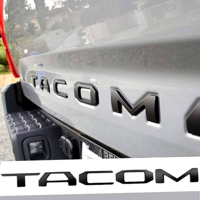 2016 - 2021 Toyota Tacoma Raised Plastic 3D Tailgate Letter Inserts