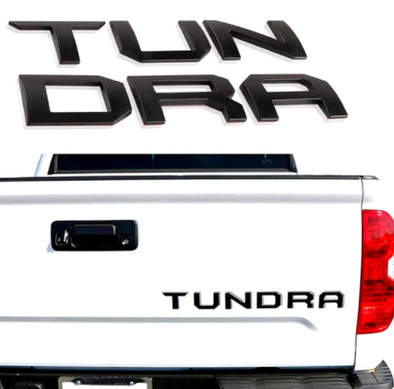 2014 - 2021 Toyota Tundra Domed / Raised 3D Tailgate Letter Inserts
