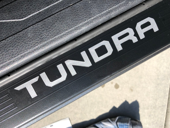 2014 - 2019 Toyota Tundra Door Sill Decal Inserts