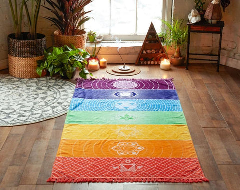 Colorful Rainbow Chakra Throw