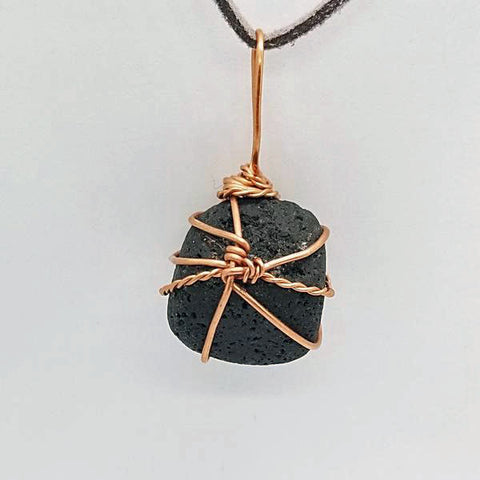 Image of Reiki Infused Basalt (Lava Stone) Wire Wrap Oil Diffuser