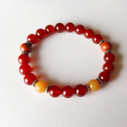 The Sacral Chakra - Genuine Carnelian, Red