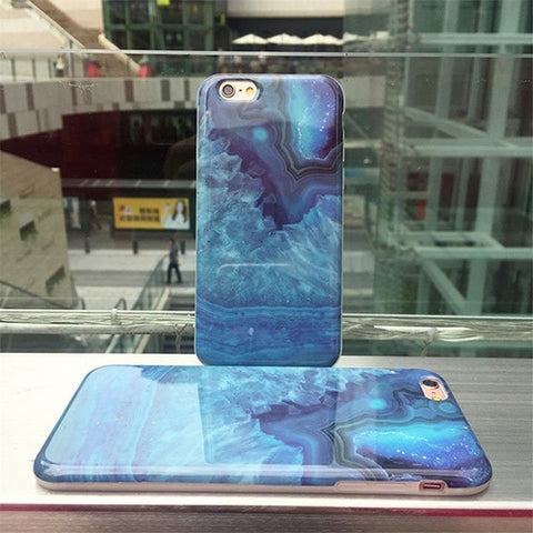 Image of Blue Crystal Stone Case For iPhone