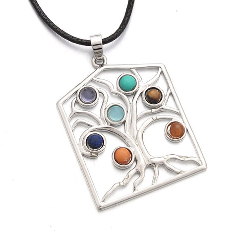 Image of 7 Chakra Tree of Life Pendant Necklace