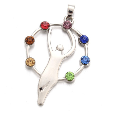 Image of 7 Chakras Woman Rising Pendant Necklace