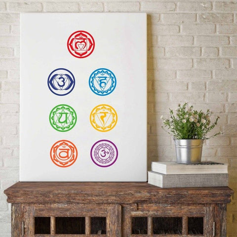 Image of Chakras Canvas Art Print Painting Poster