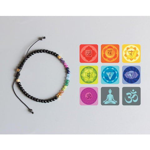 Image of 7 Chakras slim healing and balancing bracelet