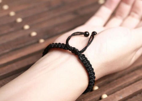 Black Obsidian Rainbow Eye Beads String Bracelet