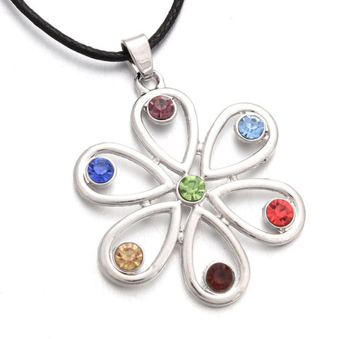 7 Chakras Flower Necklace