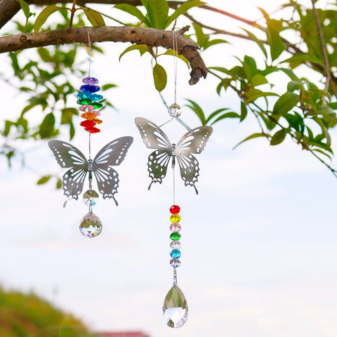 Image of Butterfly Crystal Ball Sun Catcher Ornament