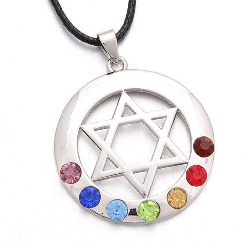 7 Chakras Hexagram Pendant Necklace