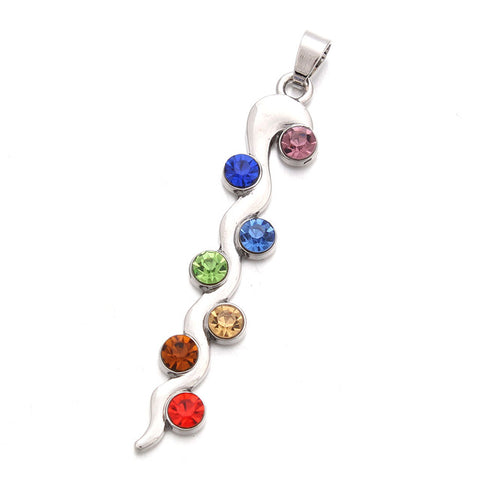 Image of 7 Chakras Kundalini Pendant Necklace