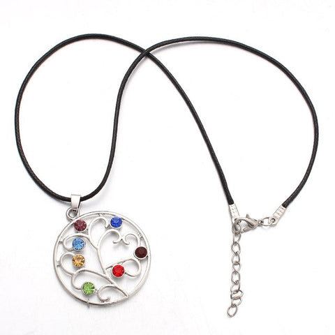 Image of 7 Chakras Tree of Life Necklace