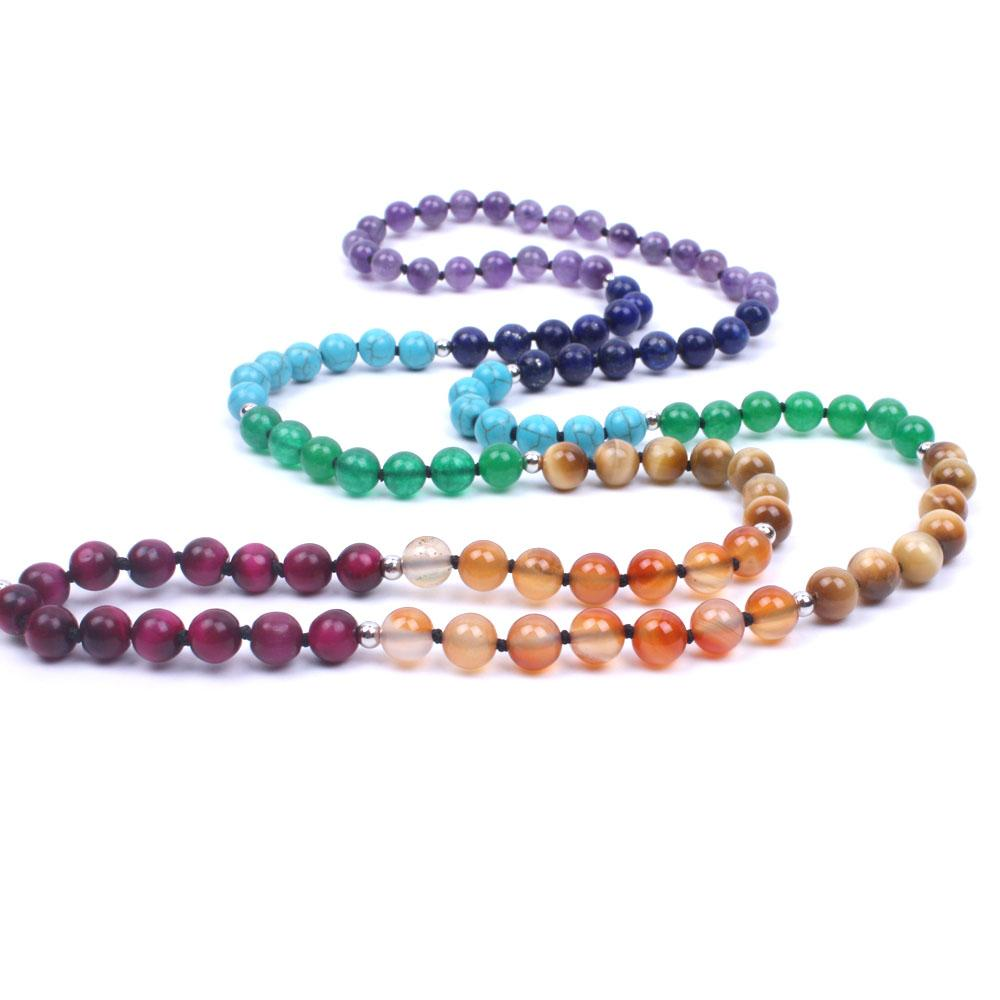 7 Chakras Mala Natural Stone with Tassel