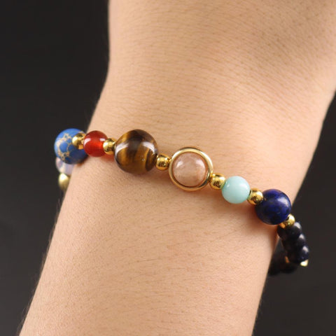 Universe Galaxy Eight Planets Bracelet